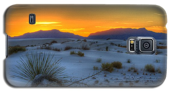 Galaxy S5 Case featuring the photograph Orange Glow by Kristal Kraft