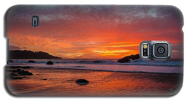 Orange Glow Galaxy S5 Case
