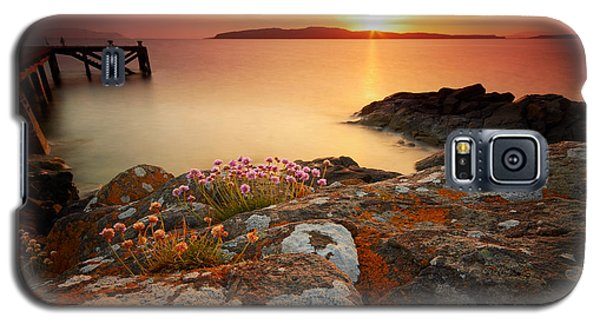Orange Jetty Sunset  Galaxy S5 Case