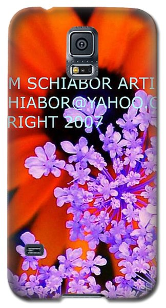 Orange Lavender Flower Galaxy S5 Case by Eric  Schiabor