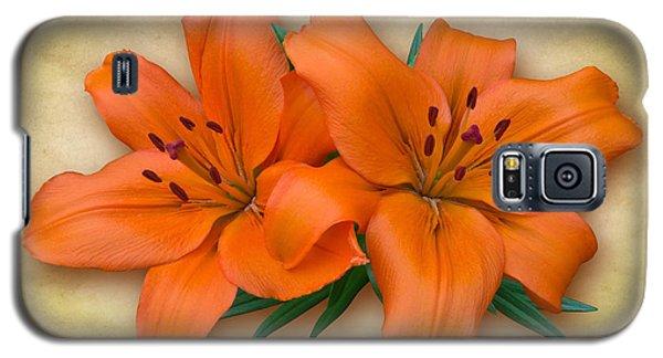 Orange Lily Galaxy S5 Case by Jane McIlroy