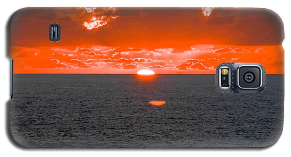 Orange Ocean Sunset Reflections Galaxy S5 Case