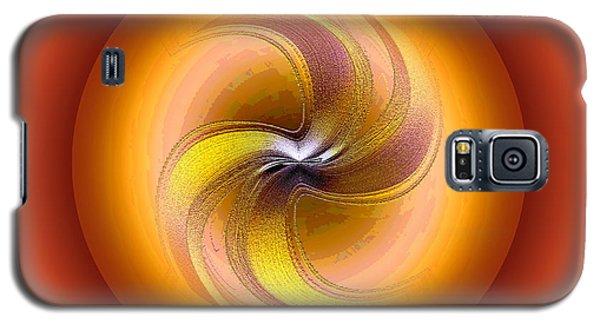 Orange Orchid Galaxy S5 Case