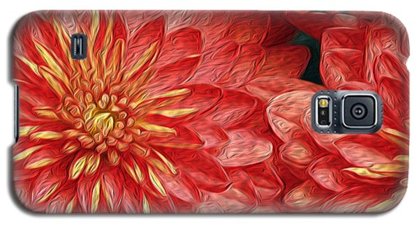 Orange Petals Galaxy S5 Case