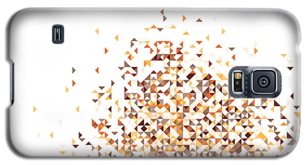 Orange Pixels Galaxy S5 Case