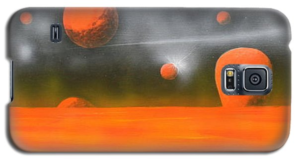 Orange Planet Galaxy S5 Case by Tim Mullaney