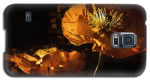 Orange Poppies Two Galaxy S5 Case by Kirt Tisdale