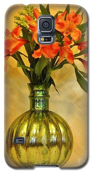 Orange Shades Bouquet Galaxy S5 Case