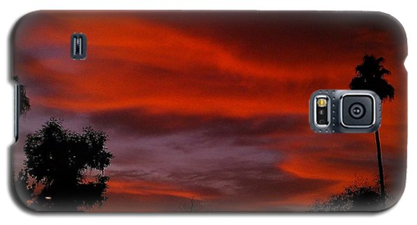 Galaxy S5 Case featuring the photograph Orange Sky by Chris Tarpening