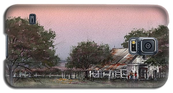 Galaxy S5 Case featuring the painting Orange Sky by Tim Oliver