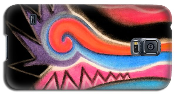 Galaxy S5 Case featuring the pastel Orange Spiral by Christine Perry