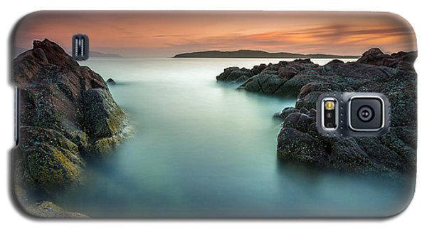 Orange Sunset At Portencross Galaxy S5 Case