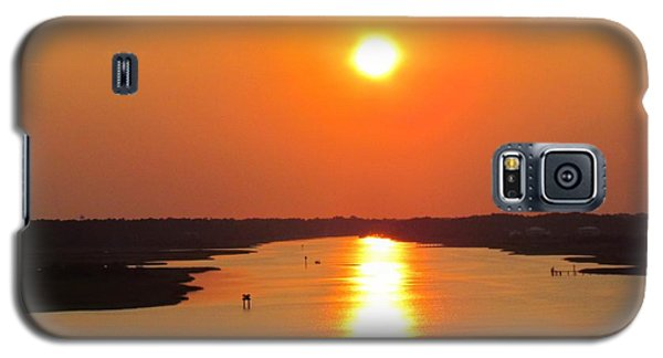 Galaxy S5 Case featuring the photograph Orange Sunset by Cynthia Guinn