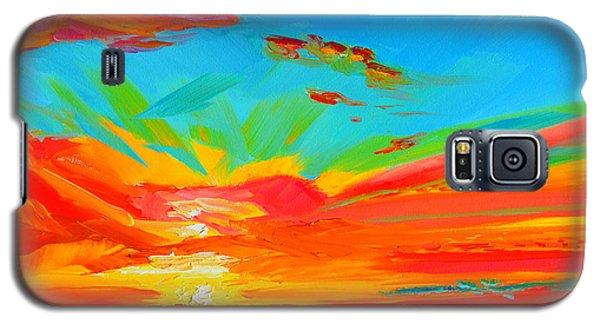 Orange Sunset Landscape Galaxy S5 Case