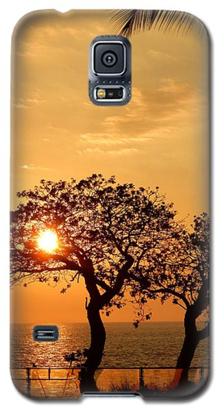 Orange Sunset Galaxy S5 Case by Pamela Walton