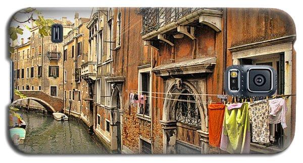 Orange Towel Venice Canal Galaxy S5 Case