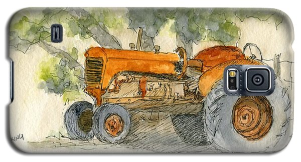 Orange Tractor Galaxy S5 Case
