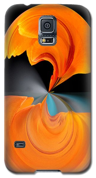 Orange Tulip Hour Glass Galaxy S5 Case