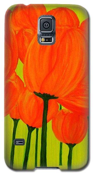 Orange Tulip Pops Galaxy S5 Case