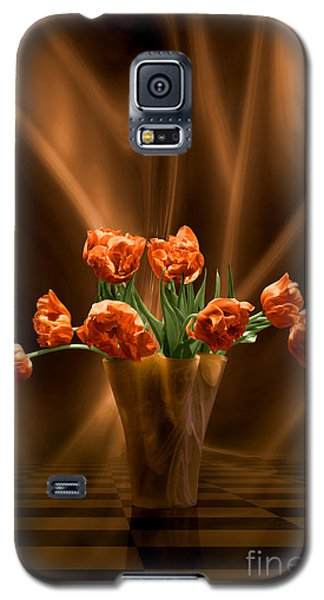 Orange Tulips In Floating Room Galaxy S5 Case