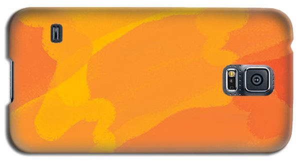 Orange Yellow Abstract Galaxy S5 Case