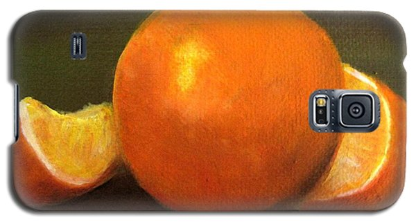 Galaxy S5 Case featuring the painting Oranges by Carol Sweetwood