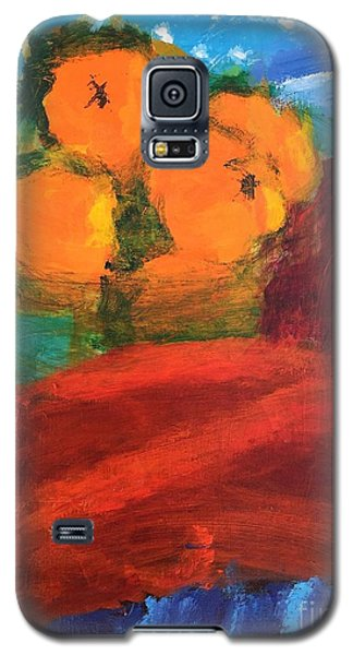 Galaxy S5 Case featuring the painting Oranges by Donald J Ryker III