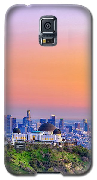 Orangesicle Griffith Observatory Galaxy S5 Case