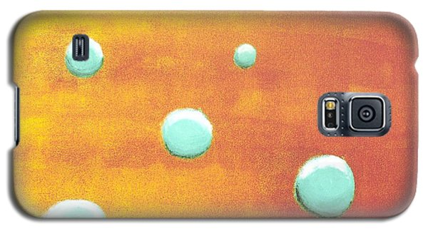 Galaxy S5 Case featuring the painting Orbs In Space 2 -- Inverted Colors by Rod Ismay