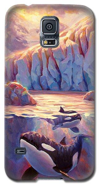 Orca Sunrise At The Glacier Galaxy S5 Case