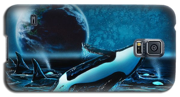 Orcas At Night Galaxy S5 Case