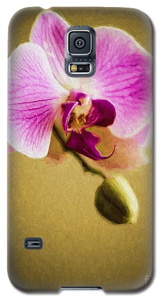 Orchid In Digital Oil Galaxy S5 Case