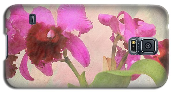 Orchid In Hot Pink Galaxy S5 Case by Rosalie Scanlon