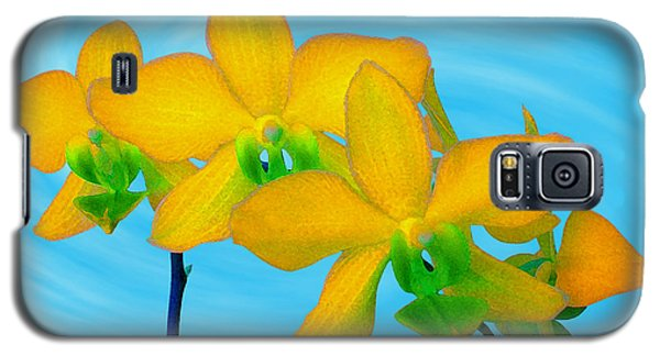 Orchid In Yellow Galaxy S5 Case