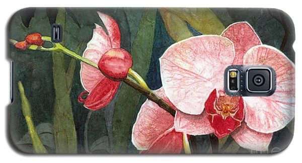 Galaxy S5 Case featuring the painting Orchid Trio 2 by Barbara Jewell