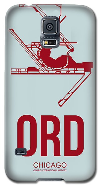 Sears Tower Galaxy S5 Case - Ord Chicago Airport Poster 3 by Naxart Studio