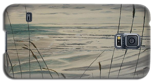 Oregon Coast With Sea Grass Galaxy S5 Case by Ian Donley