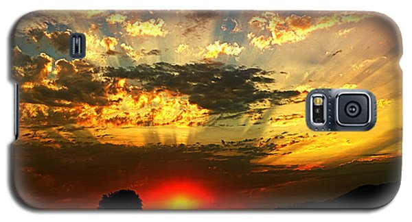 Oregon Crepuscular Sunset Galaxy S5 Case by Nick Kloepping