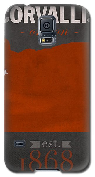 Oregon State University Beavers Corvallis College Town State Map Poster Series No 087 Galaxy S5 Case by Design Turnpike