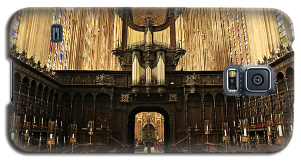 Organ And Choir - King's College Chapel Galaxy S5 Case by Stephen Stookey