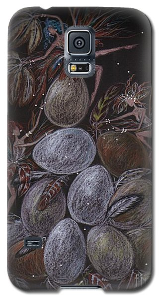 Galaxy S5 Case featuring the drawing Organic by Dawn Fairies