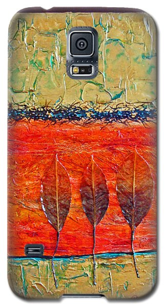 Organic With Three Leaves Galaxy S5 Case