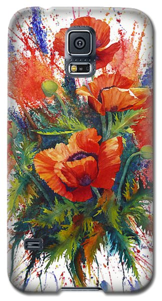 Galaxy S5 Case featuring the painting Oriental Overture by Karen Mattson