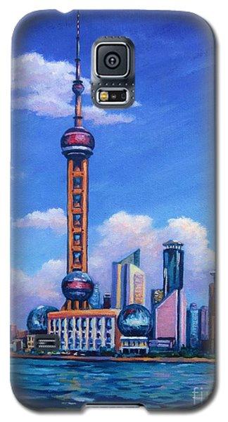 Oriental Pearl Shanghai Galaxy S5 Case by John Clark