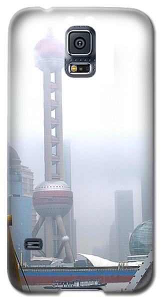 Oriental Pearl Tower Under Fog Galaxy S5 Case by Nicola Nobile