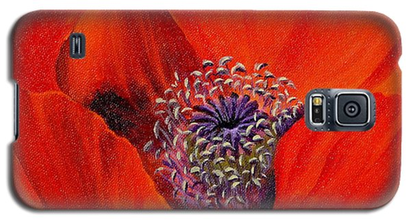 Galaxy S5 Case featuring the painting Oriental Poppy by Jo Appleby