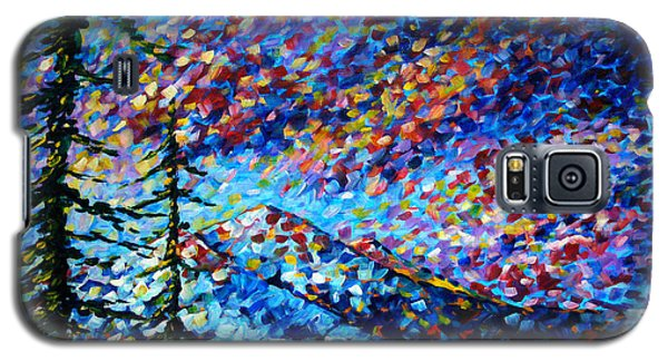 Impressionism Galaxy S5 Case - Original Abstract Impressionist Landscape Contemporary Art By Madart Mountain Glory by Megan Duncanson