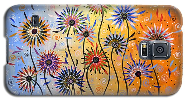Original Abstract Modern Flowers Garden Art ... Explosion Of Joy Galaxy S5 Case