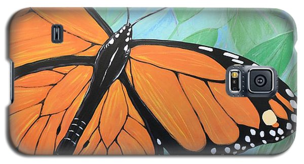 Original Abstract Painting Butterfly Print ... Monarch Galaxy S5 Case