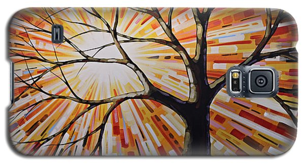 Galaxy S5 Case featuring the painting Original Abstract Tree Landscape Painting ... Shine by Amy Giacomelli